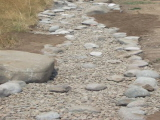 Dry river drainage